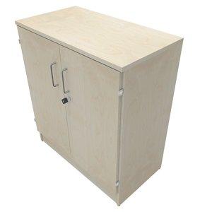 Förvaring med låsbara dörrar B:800mm H:2xA4 D:435mm