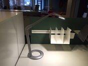 Lampa Luxo Ovelo silver inkl bordsfot