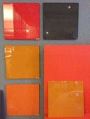 4 st färgade Glasskrivtavla 300x300 mm
