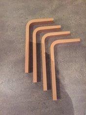 Träben formpressade för bordshöjd ca 600 mm björk