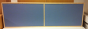 Bordsskärm Ljudabsorberande blå