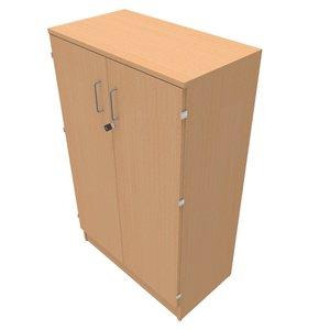 Förvaring med låsbara dörrar B:800mm H:3xA4 D:435mm