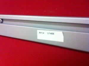 Bordsskärm röd 1800x650 mm inkl skena