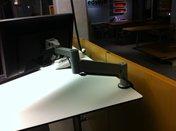 Bildskärmsarm Freearm, vikt 4.1 - 10.9 kg, silver