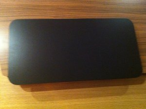 Skiva QP svart 629x300 mm
