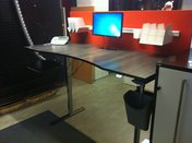 Specialdesignad arbetsplats svart 2000x900/800 mm