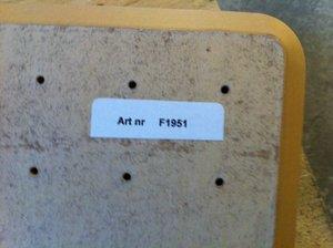 Skiva 1200x600 mm, Björk, profil 1