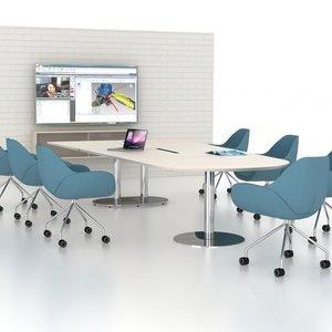 Ziv Konferensstol, hjul och hög komfort